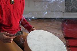 Cercle 2 tambour fumigation sans visage.