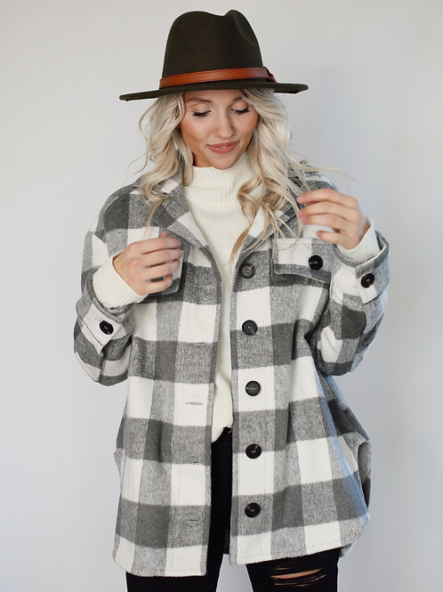 Stella Slouchy Soft Plaid Jacket