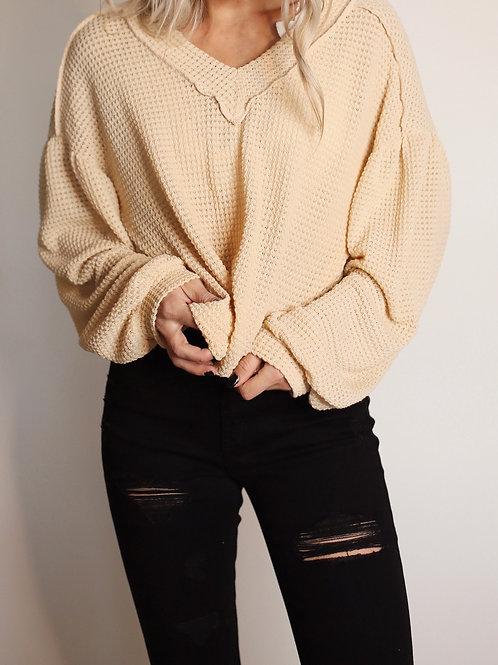 Love at First Sight V Neck Pullover