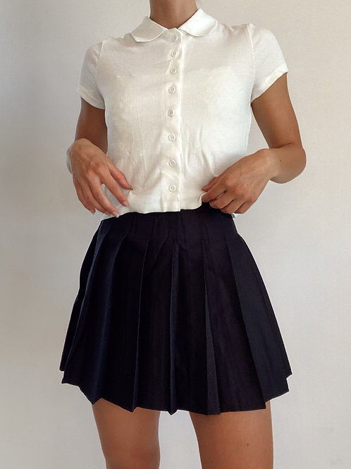 Hearts for Kenny and Karen Pleated Mini Skirt