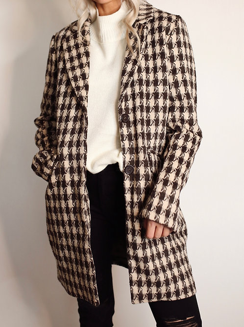 Chanae Plaid Overcoat