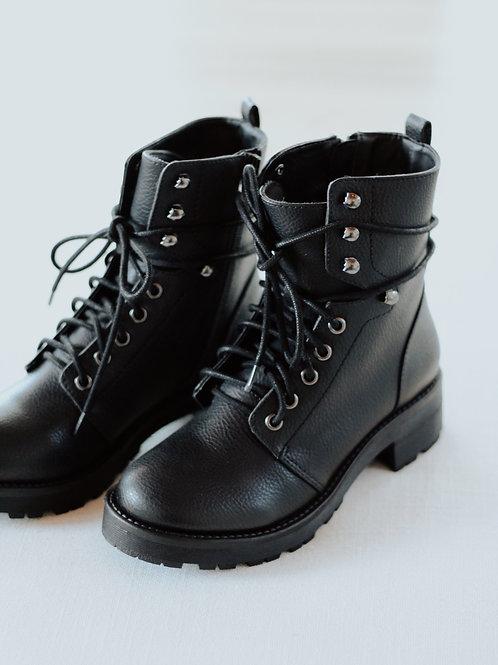 Mia Indigo Combat Boots