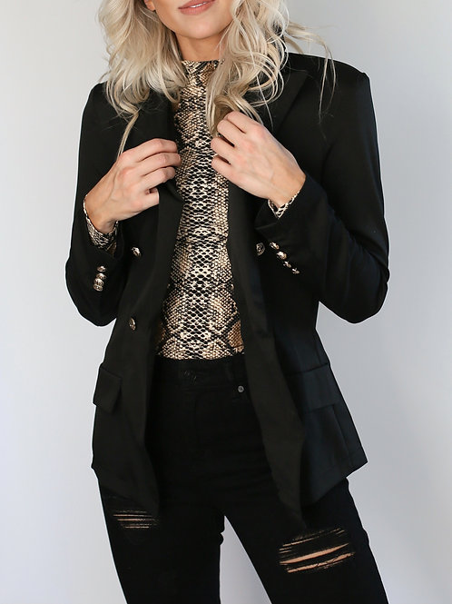 Gold Button Detail Blazer