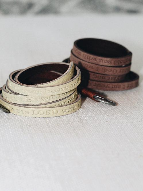 Good Work(s) Scripture Wrap Around Bracelet