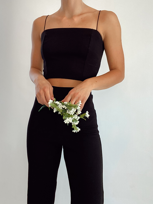 Agnes Our Sunshine High Rise Cropped Flare Pant