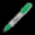 Sharpie Marker Fine Point Green.png