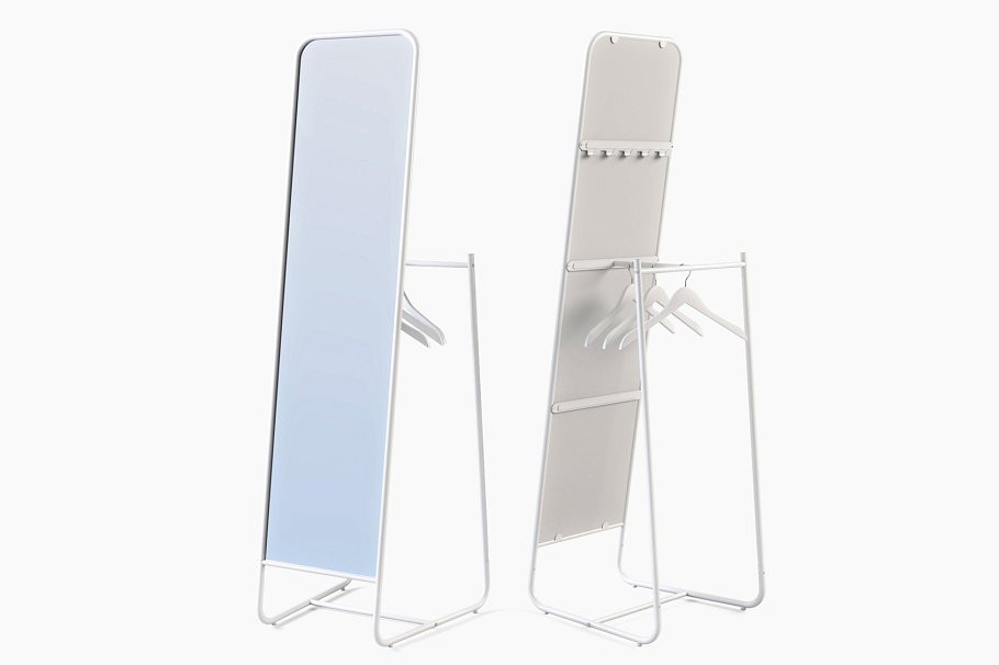 Stand Alone Mirror with Garment System.j