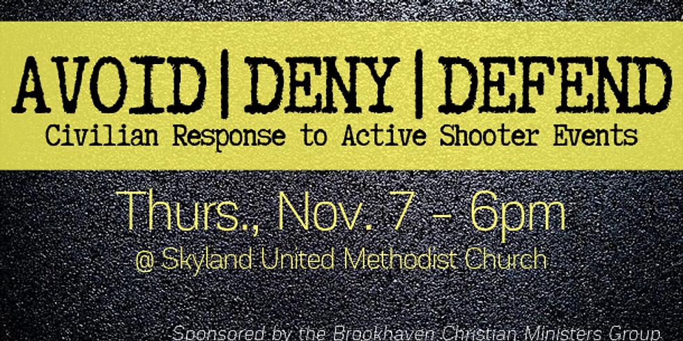AVOID | DENY | DEFEND