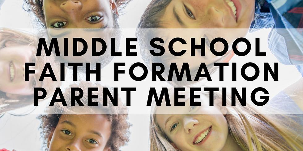 Middle School Faith Formation Parent Meeting