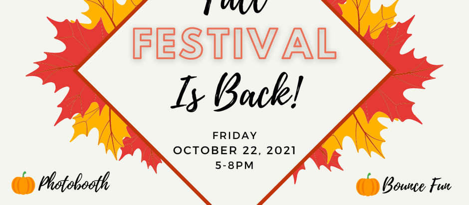 Preschool Fall Festival: Volunteers and Musicians Needed