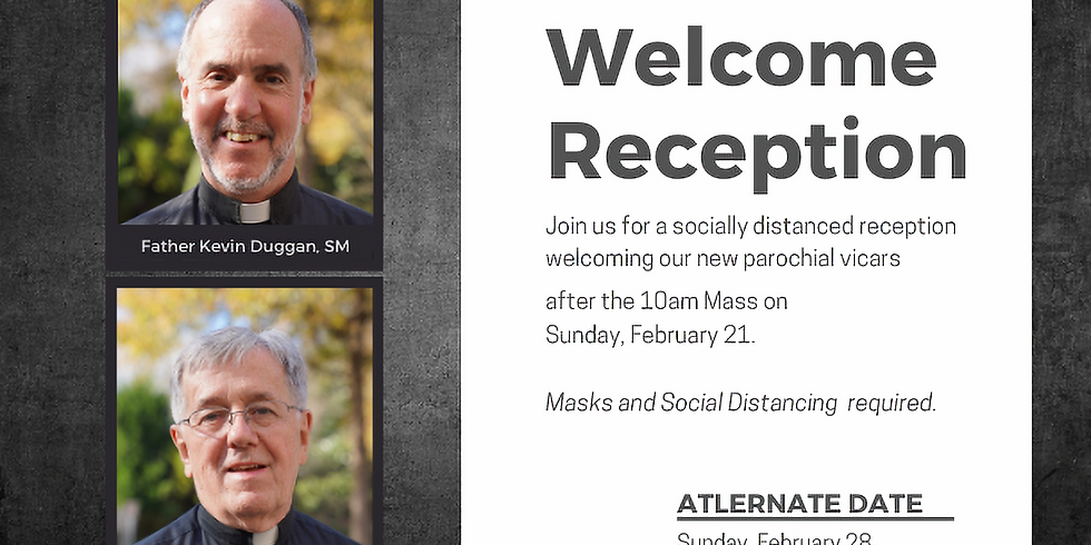 Welcome Reception for our New Parochial Vicars