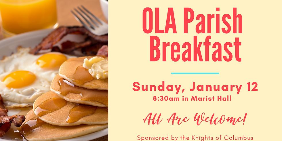 Knights Sponsored Parish Breakfast