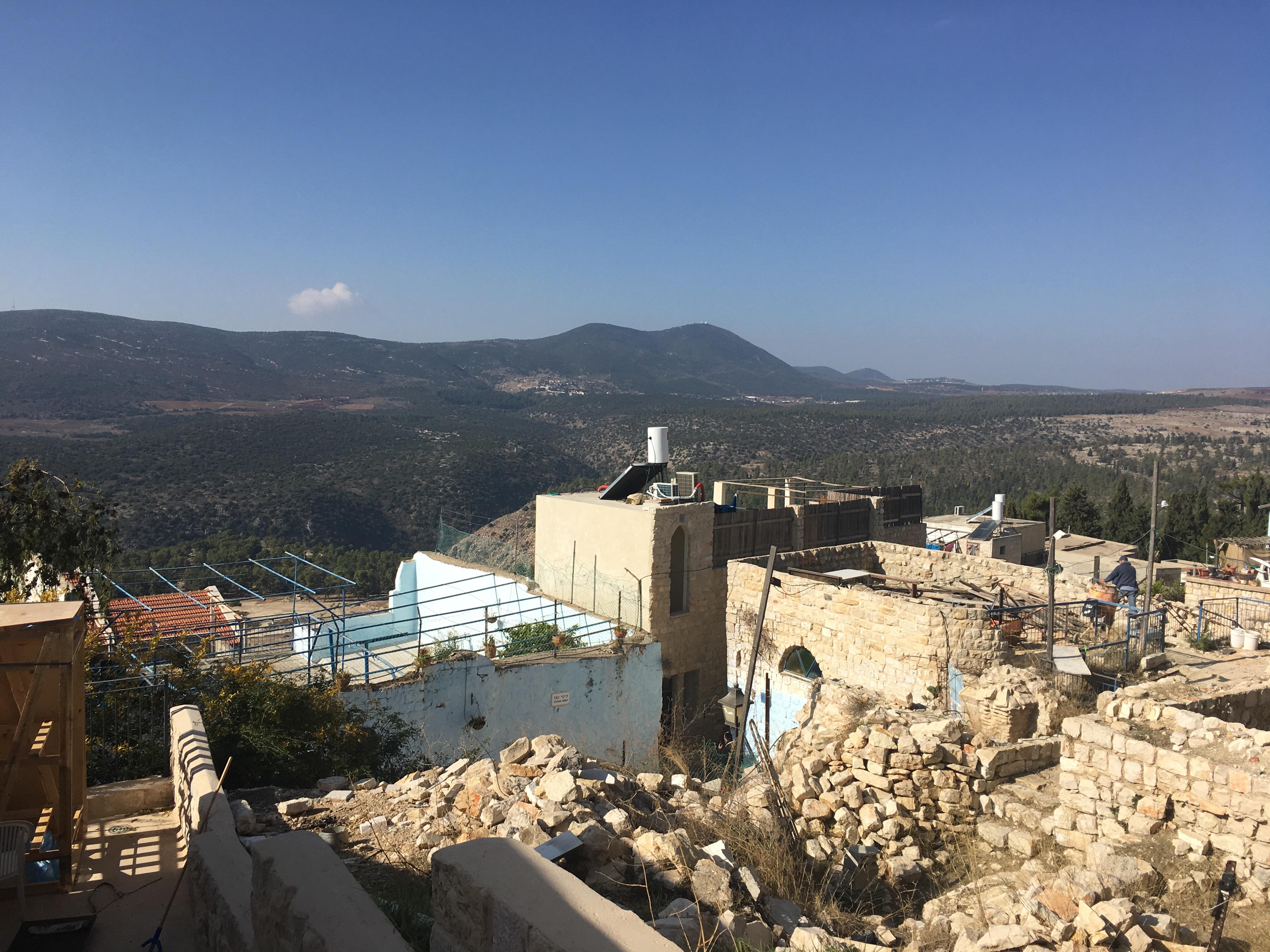 Beautiful view of Tzfat