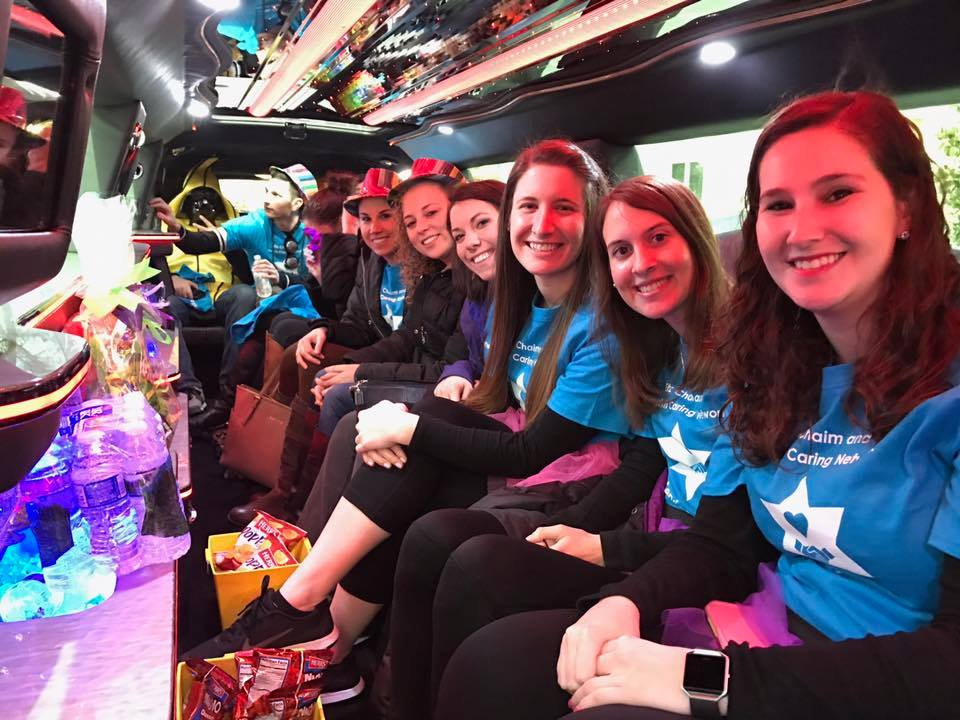 Purim Deliveries in a Limo!