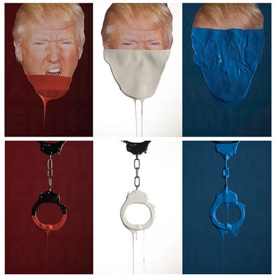 Trump and Handcuffs