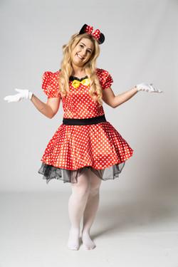 Minnie costume entertainer