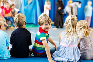 Children watching theater or concert at