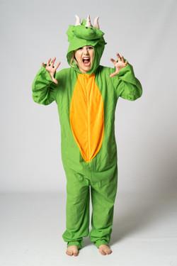 Dinosaur costume party entertainer