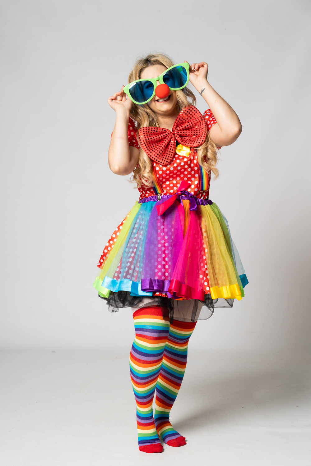 Rainbow Cutesy Clown party fun