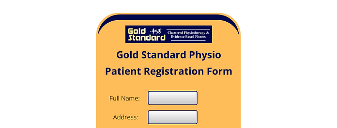Gold Standard Physio Patient Registratio