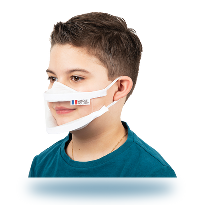 Masque transparent enfant