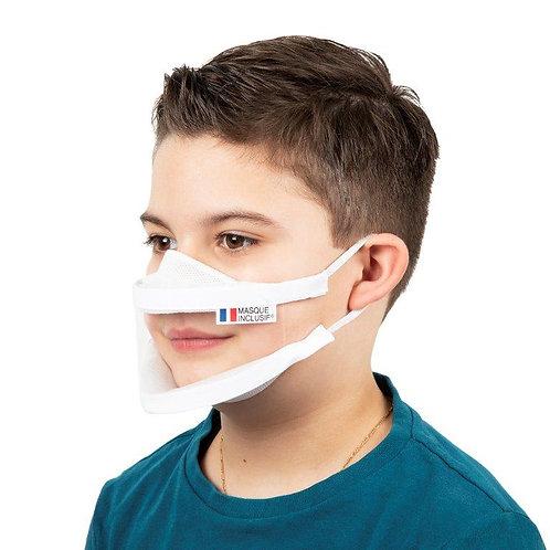 Masque transparent Enfant XS lavable - 5, 10, 50 ou 100 pièces