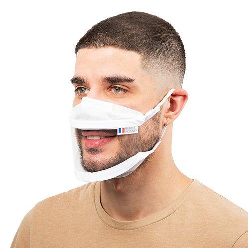 Masque transparent Adulte M lavable - 5, 10, 50 ou 100 pièces