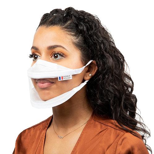 Masque Inclusif - Masque communautaire transparent pour adulte avec visage fin ou enfant