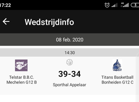 U12B: Telstar BBC B - Titans Bonheiden C