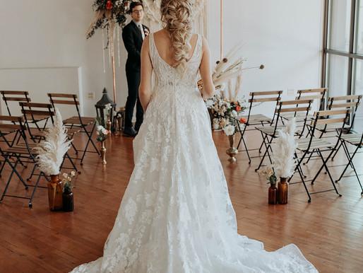 Modern Boho Magic Wedding Inspiration at The Loft of Elements Preserved