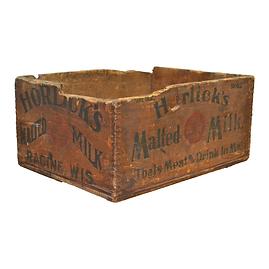 Wooden Malted Milk Transport Box