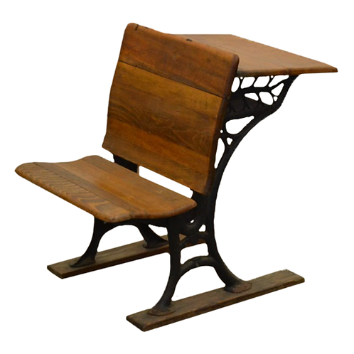 Child's Vintage Wooden School Desk