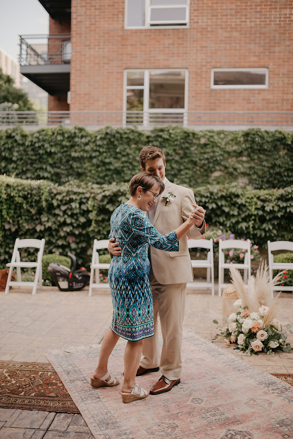 Mother and son first dance is about special memories and special love.