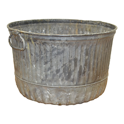 Galvanized Bushel Container