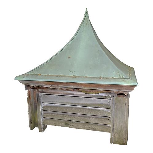 Vintage Copper Top Square Cupola