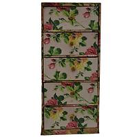Paper Rose-Patterned Storage Cabinet