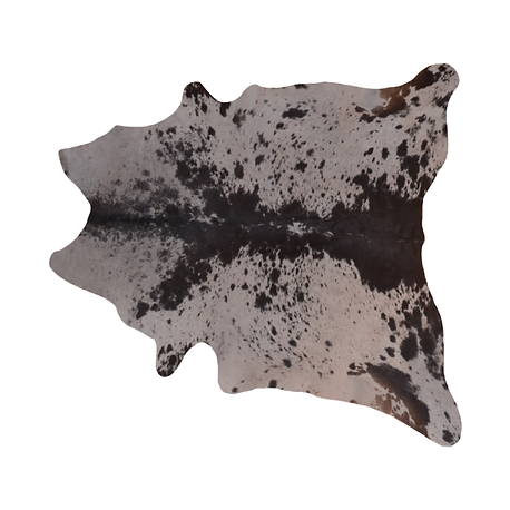 White with black accents cowhide rug