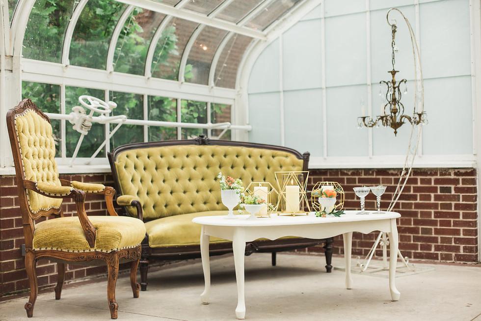 Greenhouse-lounge-vignette-green-loveseat
