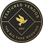 The Big Fake Wedding Vendor Badge