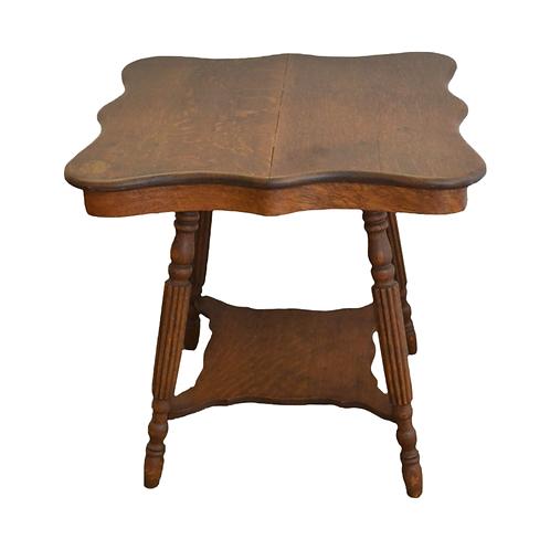 Scalloped Oak Parlor Table