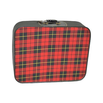 Vintage, black and red suitcase