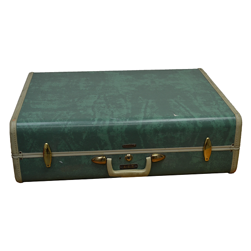 Marbled Aqua Suitcase