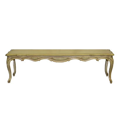 French-style carved wood coffee table