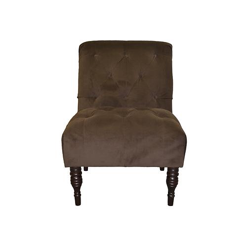 Brown Velvet Ladies Chair
