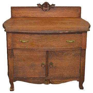 Wooden 2 Door Cabinet/Commode