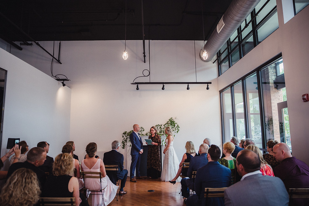 The Loft of Elements Preserved during our couples wedding ceremony provides an intimate, welcoming feel.