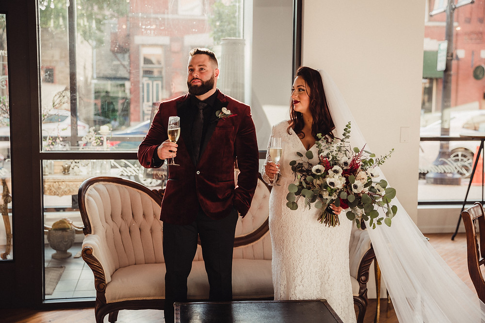A toast from the groom to his family after ceremony