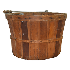 Wooden Slat Apple Basket
