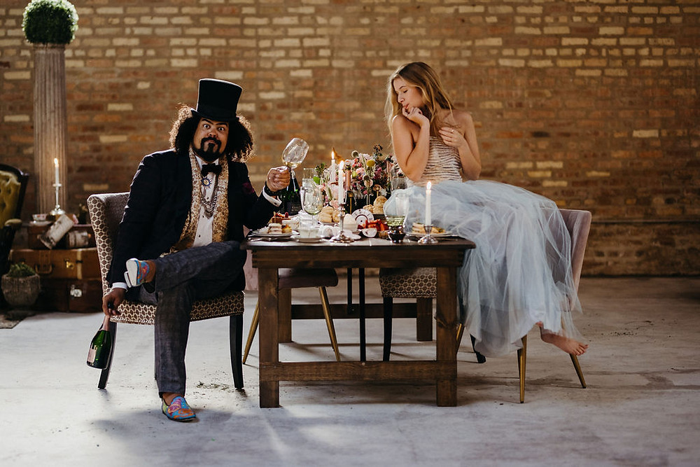 Themes wedding inspiration with Alice in Wonderland theme