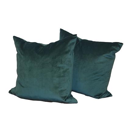Solid, aqua velvet pillows